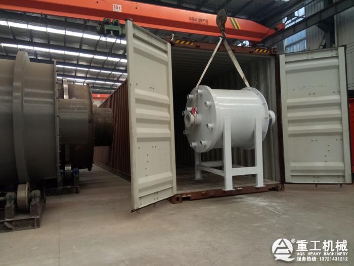 柴油燃烧炉装集装箱出口